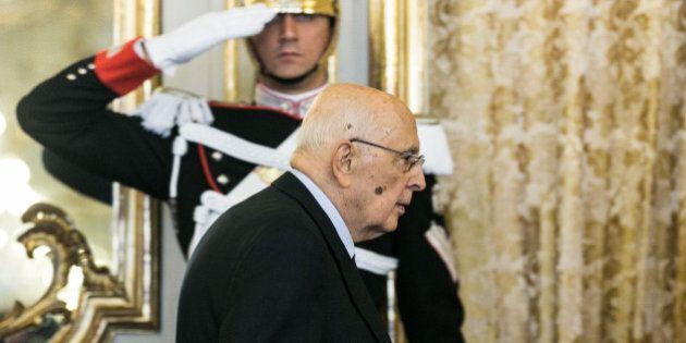 Giorgio Napolitano saluta le alte cariche dello Stato (DIRETTA