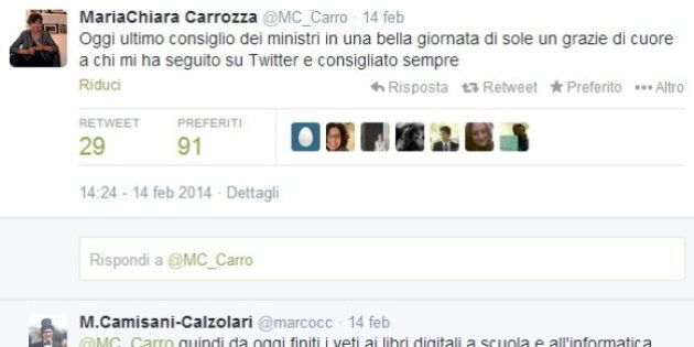 Totoministri, su twitter appello a Renzi per confermare Maria Chiara Carrozza al Miur:
