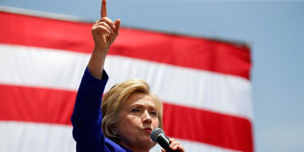 U.S. Democratic presidential candidate Hillary Clinton makes a speech during a campaign stop in Lynwood, California, United S