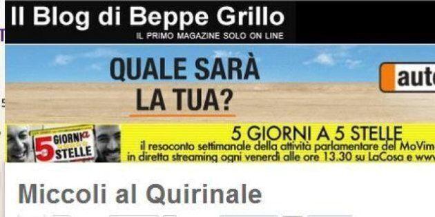 Blog Beppe Grillo provoca Giorgio Napolitano: