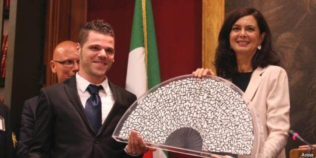 Laura Boldrini alla cerimonia del Ventaglio: