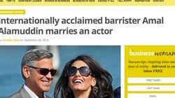 Questo titolo sul matrimonio di Clooney è incredibile