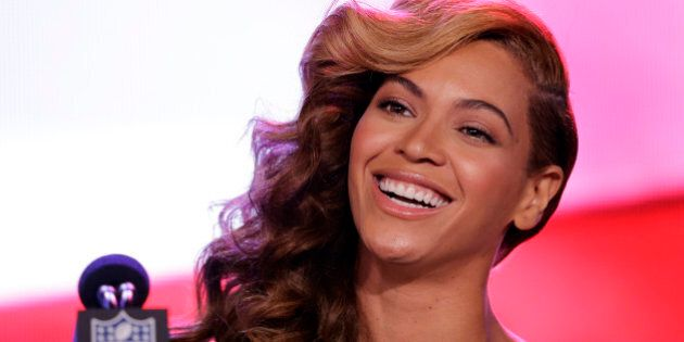 Beyoncé speaks during a news conference Thursday, Jan. 31, 2013, in New Orleans. Beyoncé is scheduled...