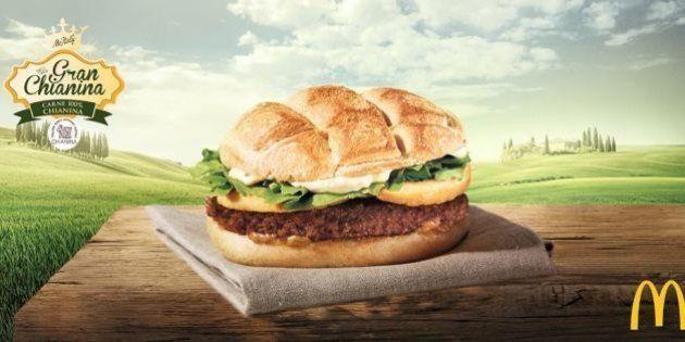 Mc Donald's panino Gran Chianina. Il sindaco di San Quirico d'Orcia (Siena):