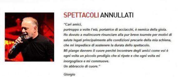 Giorgio Faletti morto: aveva 63 anni. Attore, scrittore, cantante, cabarettista: addio all'artista versatile