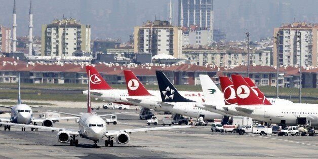 ISTANBUL, June 28, 2016 -- File photo taken on Feb. 1, 2016 shows the Ataturk Airport in Istanbul, Turkey. Two explosions hit