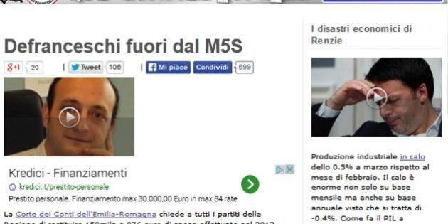 Defranceschi fuori da M5s: sospeso da Beppe Grillo il consigliere regionale dell'Emilia