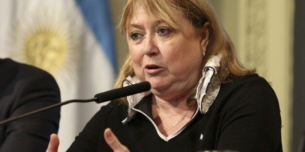 BUENOS AIRES, ARGENTINA - MAY 23: Foreign Minister of Argentina Susana Malcorra speaks during a press conference after Presid