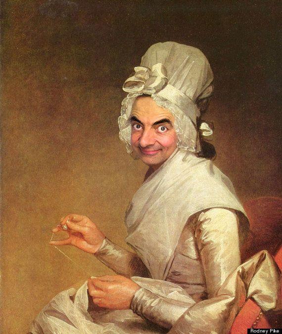 Mr Bean come la Gioconda: il comico inglese nei capolavori dell'arte. Le caricature umoristiche di Rodney...