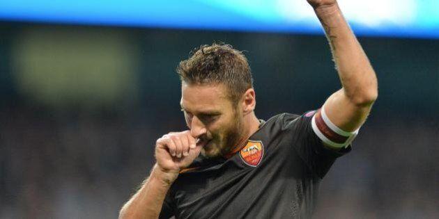 Manchester City-Roma, Francesco Totti: la stampa inglese lo celebra.