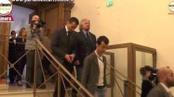 Un attimo prima dell'incontro con Renzi....