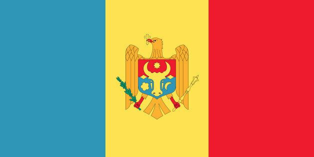 Illustration of the national flag of Moldova