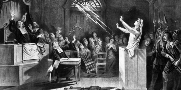 1692, A young woman accused of witchcraft by Puritan ministers appeals to Satan to save her. (Photo by MPI/Getty Images)