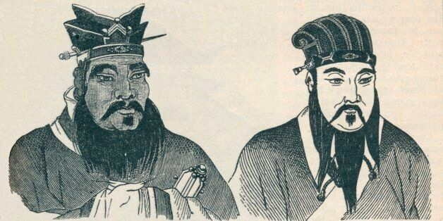 Chinese portraits of Confucius and his great follower Mencius, 1907. From Harmsworth History of the World, Volume 1, by Arthu