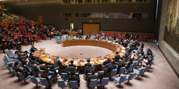 United Nations Special Coordinator for the Middle East Peace Process Nickolay Mladenov, left, addresses a Security Council me