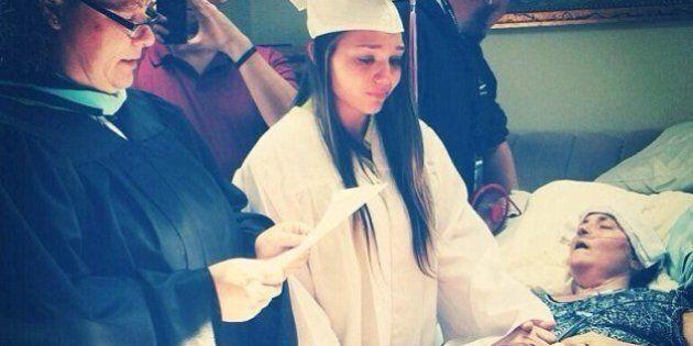 Megan Sugg, si diploma al capezzale della mamma morente.