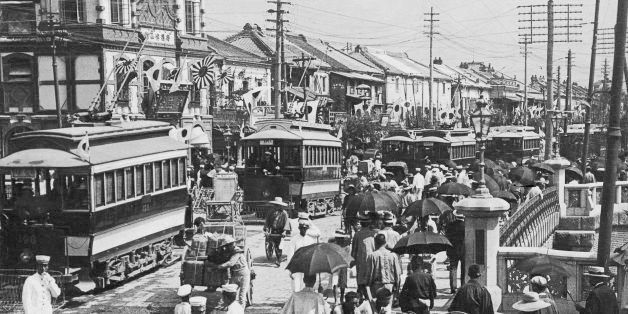 JAPAN - JANUARY 01:  View Of A Lively Street In Tokyo, Japan Around 1900-1920.   (Photo by Keystone-France/Gamma-Keystone via