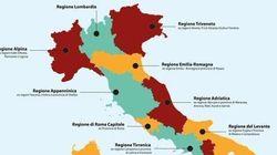 Alpina, Triveneto, Levante: una proposta Pd rivoluziona la cartina