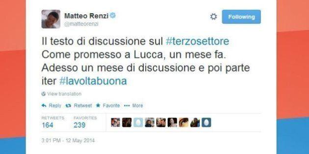 Matteo Renzi propone il servizio civile universale: una leva per 100 mila