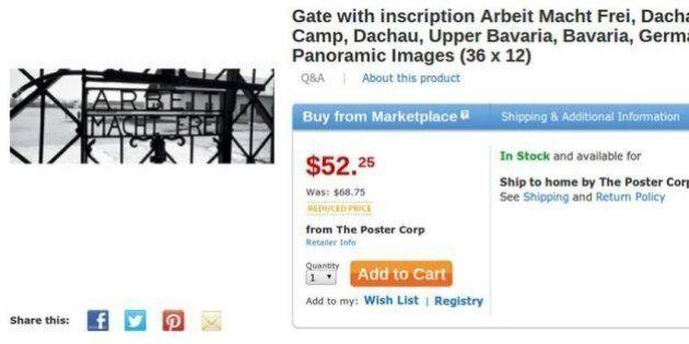 Amazon, Welmart e Sears e il poster del lager di Dachau in vendita online. Le compagnie si scusano