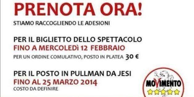Beppe Grillo e la campagna elettorale a pagamento con il