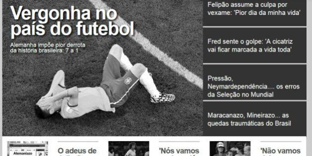 Brasile Germania 1-7 Mondiali 2014: le prime pagine dei giornali brasiliani e stranieri