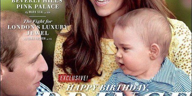 Kate Middleton e il principe George su Vanity Fair per il compleanno del Royal Baby. Compie 1 anno il...