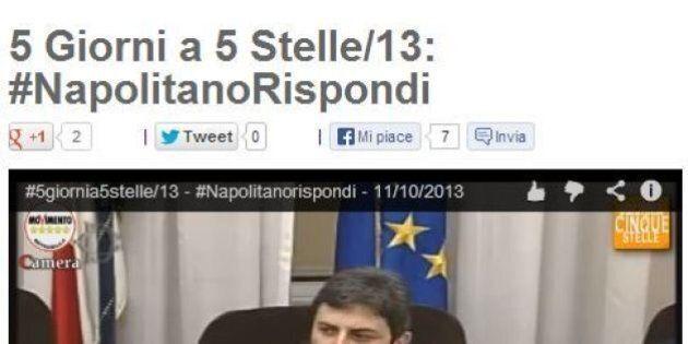 Blog Beppe Grillo: 4 domande a presidente della Repubblica. Lancia l'hashtag: