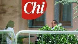 Silvio in camice a Cesano Boscone (FOTO,