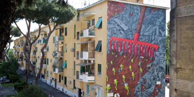Progetto SanBa, gli artisti Liqen e Agostino Iacurci dipingono i palazzi di San Basilio: coinvolti anche...