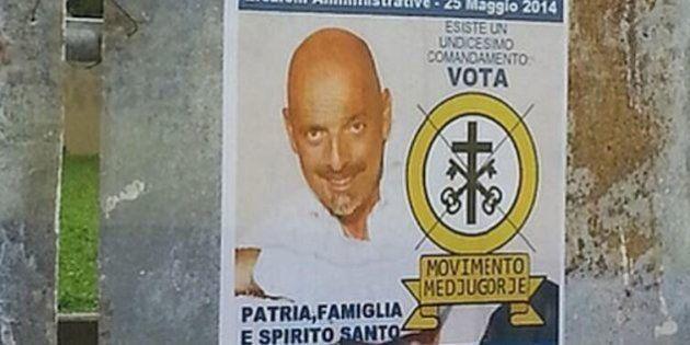 Paolo Brosio sindaco di Prato, candidato con il partito della madonna. Ma è un fake