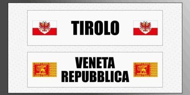 Lega Nord, domani blitz per sostituire la segnaletica di Trentino e Veneto con