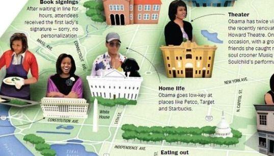 Michelle: dallo shopping, ai ristoranti all'impegno politico