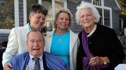 George Bush senior testimone a un matrimonio