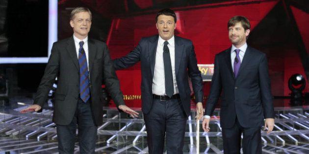 Confronto tv Renzi, Cuperlo, Civati. Botte da orbi ma nessun disvelamento, né degli uomini né dei