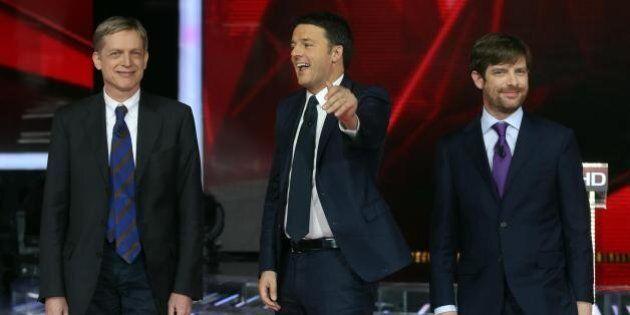 Primarie Pd: Renzi, Cuperlo Civati il confronto in