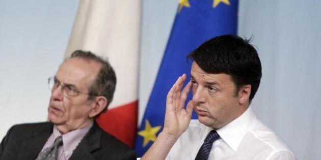 Matteo Renzi Pier Carlo Padoan: 15 miliardi per il rilancio