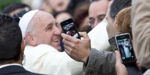 Papa Francesco a Tor Sapienza a Roma.