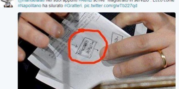 Nicola Gratteri, nella lista di Matteo Renzi c'è scritto