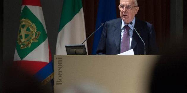 Giorgio Napolitano da Poggioreale manda un messaggio a Berlusconi: