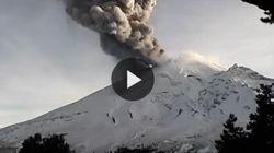 Messico, la spettacolare eruzione del vulcano Popocatepetl