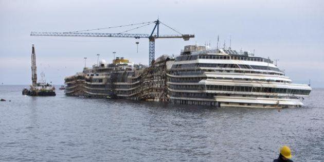 Costa Concordia dal Giglio a Genova: il relitto percorrerà circa 200 miglia. La nave non partirà in caso...