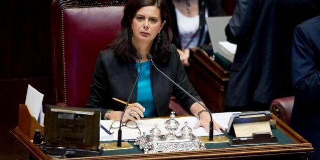 Laura Boldrini in aula alla Camera il 20 agosto per il decreto sul femminicidio. Di Maio (M5s):