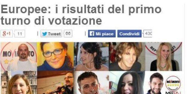 Blog Beppe Grillo: europee, i risultati del primo turno di votazione