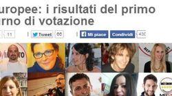 Europee, sul blog di Grillo i risultati del primo turno di votazione