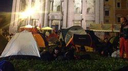 San Giovanni la notte prima della manifestazione
