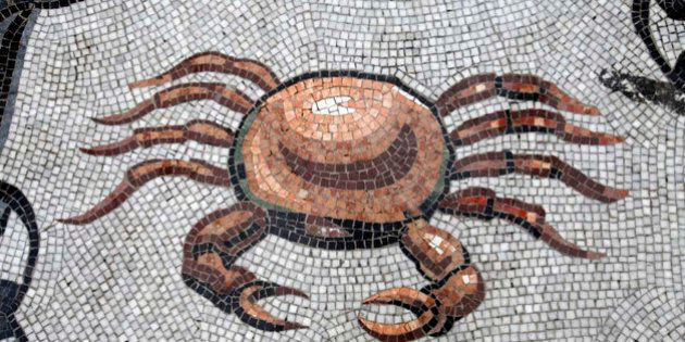 Zodiac, Astral sign mosaic in Galleria Umberto, Napoli, Italy. Cancer. (Photo by: BSIP/UIG via Getty