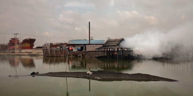 Every day these factories release smoke  around it in Dhaka, Bangladesh, on 22 August 2016.   People from the southern part o