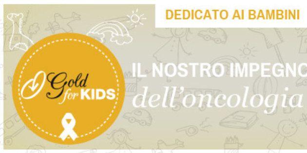 Fondazione Veronesi, Gold for kids: la nuova sfida. 153 borse di