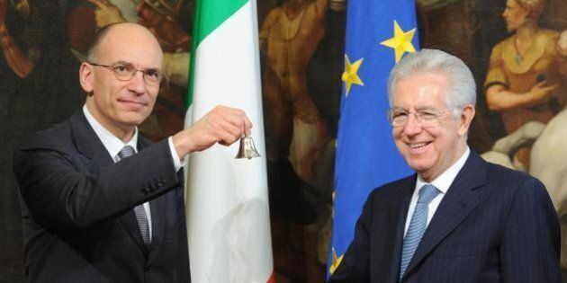 Enrico Letta spiazzato dalle parole di Mario Monti. Ma tra i due scende il gelo. Incontro a palazzo